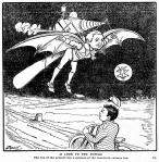 flying machine and bike cartoon